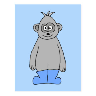 Gorilla in Blue Boots. Postcard