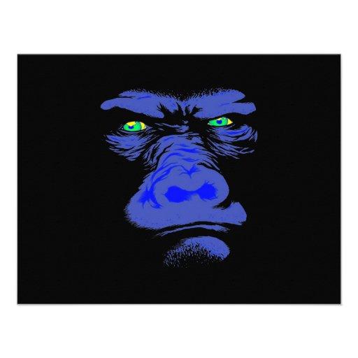 Gorilla in Blue Personalized Announcement