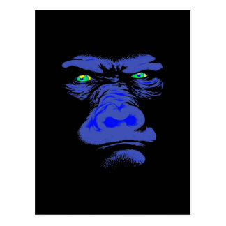 Gorilla in Blue Postcard