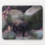 Gorilla in Flowers Mouse Pads