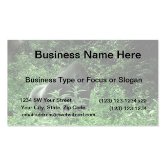 Gorilla in leaves green tint wildlife animal business card