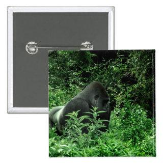 Gorilla in leaves green tint wildlife animal pins