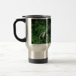 Gorilla in leaves green tint wildlife animal mug