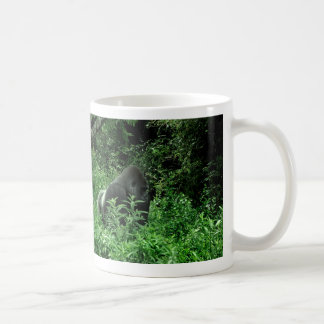 Gorilla in leaves green tint wildlife animal coffee mug