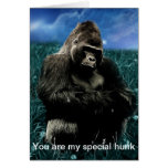 Gorilla in the meadow greeting card