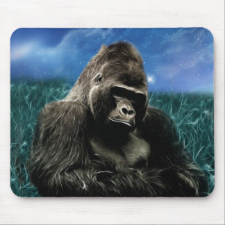 Gorilla in the meadow mouse pad