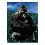 Gorilla in the meadow postcard