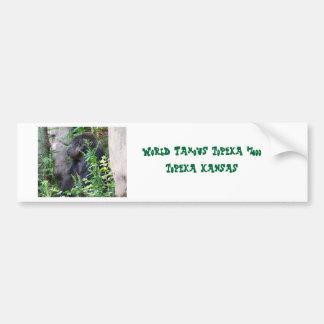 Gorilla in the mist car bumper sticker