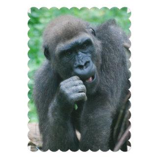 Gorilla Custom Invitation