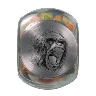 Gorilla Jelly Belly Candy Jars