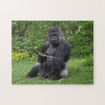 "Gorilla Jigsaw Puzzle<br><div class=""desc"">Photo of a Western Lowland Gorilla in a Dutch zoo.</div>"