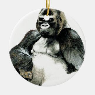 gorilla.jpg ceramic ornament