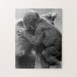 Gorilla Kiss Jigsaw Puzzle