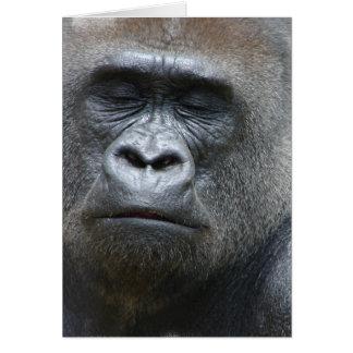 Gorilla Look Greeting Card