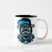 art, design, gorilla, graffiti, graphic, hip, hop, rap, rock, street, hip hop, Mug with custom graphic design