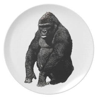 Gorilla Melamine Plate