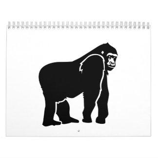 Gorilla monkey calendar
