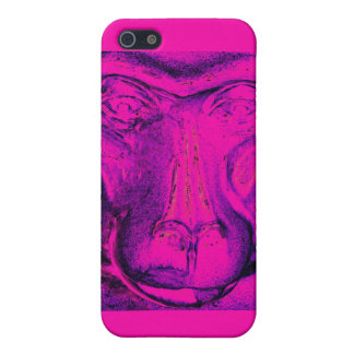 Gorilla or Ape, Close Up Face, Pink iPhone 5 Cases