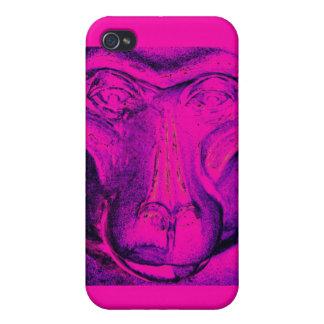 Gorilla or Ape, Close Up Face, Pink iPhone 4 Case