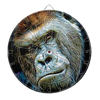 Gorilla Painting Dart Board