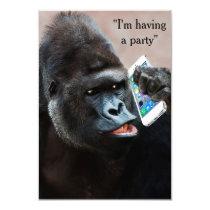 Gorilla Party Invitation