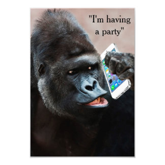 Gorilla Party Invitation