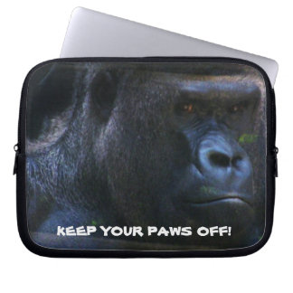 GORILLA PAWS OFF laptop sleeve
