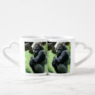 Gorilla Couples' Coffee Mug Set