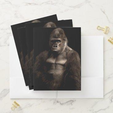 Beach Themed Gorilla Pocket Folder