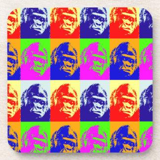 Gorilla Pop Art Beverage Coasters