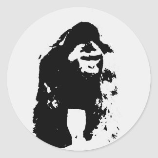 Gorilla Pop Art Classic Round Sticker