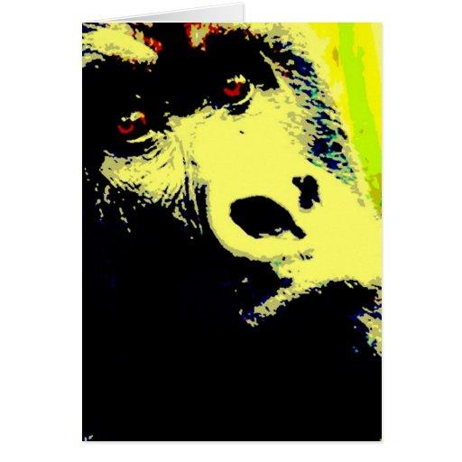 Gorilla Pop Art Greeting Card