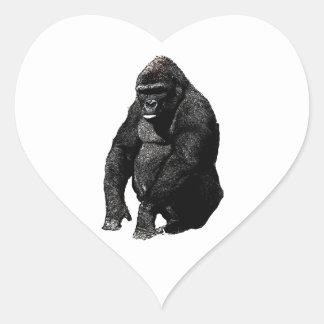 Gorilla Pop Art Heart Sticker