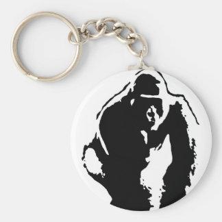 Gorilla Pop Art Keychain