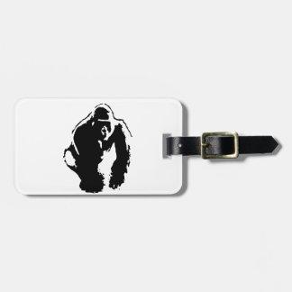 Gorilla Pop Art Travel Bag Tag