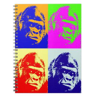 Gorilla Pop Art Notebook