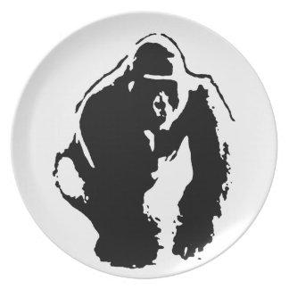 Gorilla Pop Art Plate