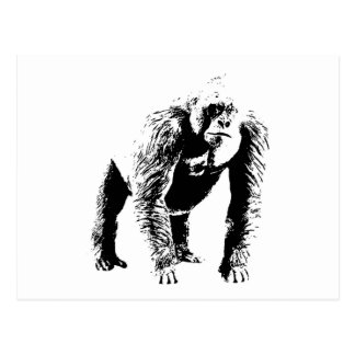Gorilla Pop Art Postcard