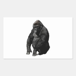 Gorilla Pop Art Rectangular Sticker