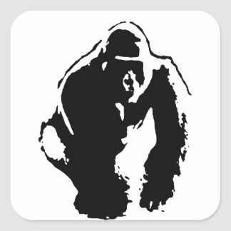 Gorilla Pop Art Square Sticker