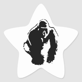 Gorilla Pop Art Star Sticker