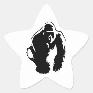 Gorilla Pop Art Star Sticker
