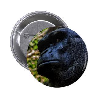 Gorilla Portrait Pin