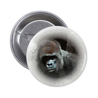 Gorilla Portrait Button