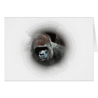 Gorilla Portrait Card