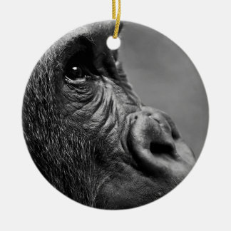 Gorilla Portrait Ceramic Ornament