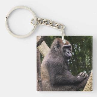 Gorilla Portrait Keychain