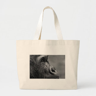 Gorilla Portrait Large Tote Bag
