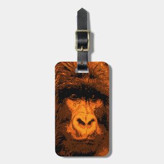 Gorilla Portrait Bag Tags