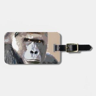 Gorilla Portrait Tags For Bags